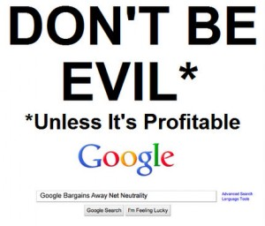 Don't be Evil? (Copyright: Mark Kolier)