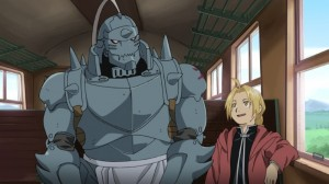 Zwei Brüder; Ein Schicksal - Ed und Al auf der Reise. Kann der Stein der Weisen ihnen ihre Körper zurück geben? (Copyright: KSM Anime)