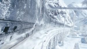 """Der durch Eiswüsten rasende """"Schneekreuzer""""."""