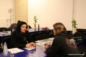 Holly Loose im Gespräch mit Stefan (Copyright: DeepGround Magazine)