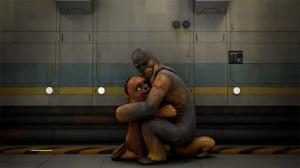 Neben all der Rebellion wird es auch mal kuschelig. (Copyright: Walt Disney Studios Home Entertainment & TM 2014 Lucasfilm Ltd.)