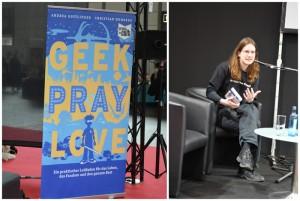 """Andrea Bottlinger liest aus ihrem Buch """"Geek Pray Love"""" auf der LBM 2015 (Copyright: DeepGround Magazine)"""