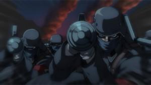 """""""Millenium"""" entsendet seine gezüchteten Vampir-Soldaten, um London dem Erdboden gleich zu machen. (Copyright: 2006 Kouta Hirano SHONEN GAHOSHA Co. LTD. / WILD GEESE)"""