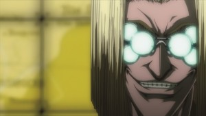 Fast jeder Charakter der Hellsing-Reihe glänzt durch eine bedrohliche Ausstrahlung und natürlich mit der typischen Lichtspiegelung. (Copyright: 2006 Kouta Hirano SHONEN GAHOSHA Co. LTD. / WILD GEESE)