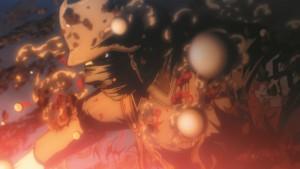 Natürlich wird es auch in Volume VI wieder blutig. (Copyright: 2006 Kouta Hirano SHONEN GAHOSHA Co. LTD. / WILD GEESE)
