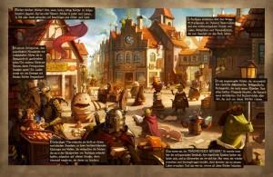 """Erster Einblick in die Graphic Novel zu """"Die Stadt der Träumenden Bücher"""" (Copyright: Zamonien / Knaus Verlag)"""
