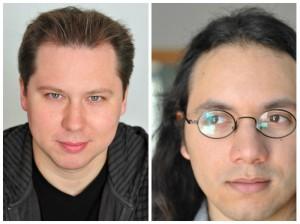 "Autorenteam der ""Schauergeschichten"": Markus Topf (li / Copyright: Sandra Then-Friedrich) & Michael John Cherdchupan (re / Copyright: Michael John Cherdchupan)"