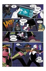 Spider-Gwen bei der täglichen Arbeit, wenn auch mit weniger Schwierigkeiten als erwartet. (Copyright: Panini Comics)