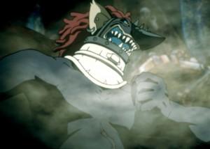 Verg, Truppenleiter der Chimeren, führt seine Flotte in den Kampf. (Copyright: 1998 Satoru Ozawa – Bandai Visual – Toshiba EMI – Gonzo)