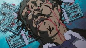"""Im Tokio von """"Speed Grapher"""" gehen Geld und Gewalt Hand in Hand. (Copyright: 2005 GONZO)"""