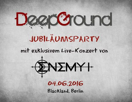 Bericht und Fotos: DeepGround Jubiläumsparty mit Enemy I (Berlin, 04.06.2016)