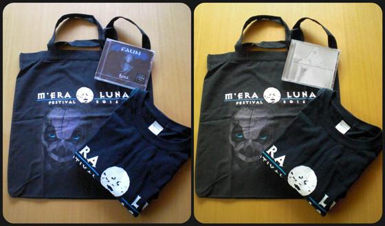"""Die M'era Luna Fan-Packages. Links: Package """"Medium"""" / Rechts: Package """"Large"""""""
